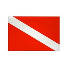 Scuba Diving Dive Flag Rectangle Magnet