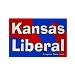 Kansas Liberal Rectangle Magnet