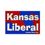 Kansas Liberal Rectangle Magnet