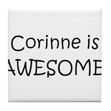 Cute Corinne Tile Coaster