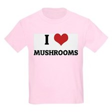 I Love Mushrooms Kids T-Shirt