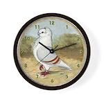 Old German Owl Pigeon Wall Clock