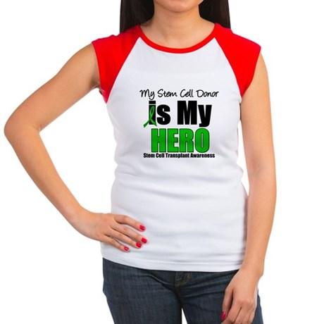 My Stem Cell Donor is My Hero Women's Cap Sleeve T