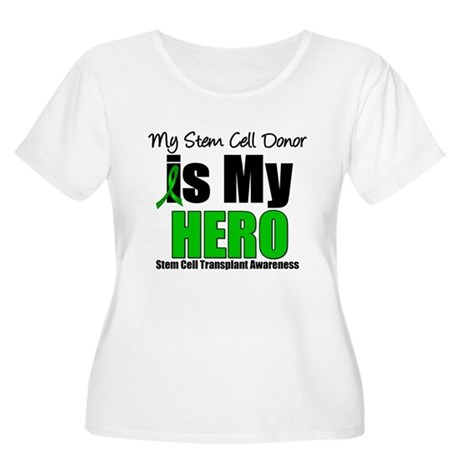 My Stem Cell Donor is My Hero Women's Plus Size Sc