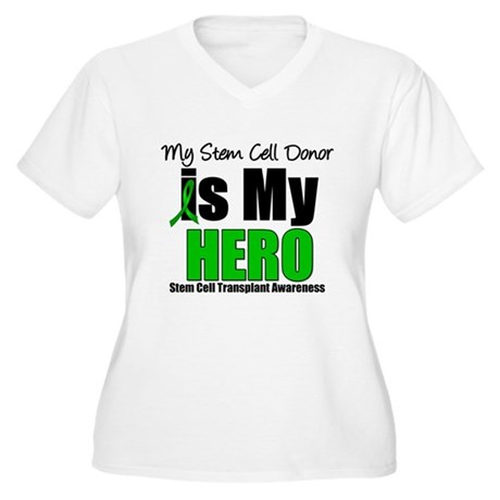 My Stem Cell Donor is My Hero Women's Plus Size V-