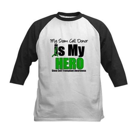 My Stem Cell Donor is My Hero Kids Baseball Jersey