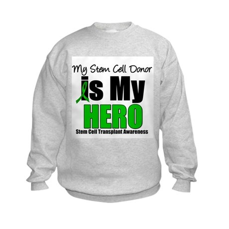 My Stem Cell Donor is My Hero Kids Sweatshirt