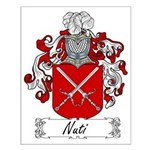 Nuti Family Crest Small Poster