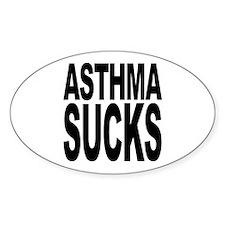Asthma Sucks Oval Sticker (50 pk)