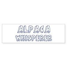 Alpaca Whisperer Bumper Bumper Sticker