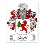 Onesti Family Crest Small Poster