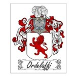 Ordelaffi Family Crest Small Poster