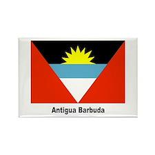 Antigua Barbuda Flag Rectangle Magnet