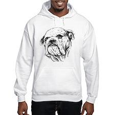 Drawn Head Hooded Sweatshirt