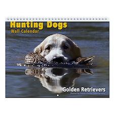 Hunting Golden Retrievers Wall Calendar