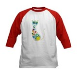 Flowers Kitty Cat Tee