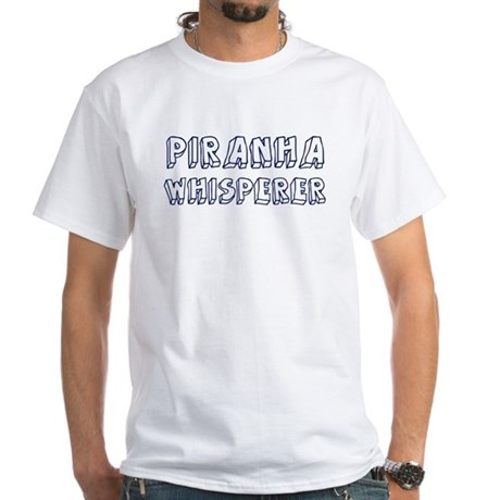 Piranha Whisperer White T-Shirt