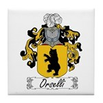 Orselli Family Crest Tile Coaster