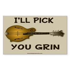 Mandolin Picker Rectangle Decal