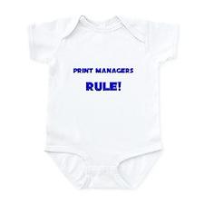 Print Managers Rule! Infant Bodysuit
