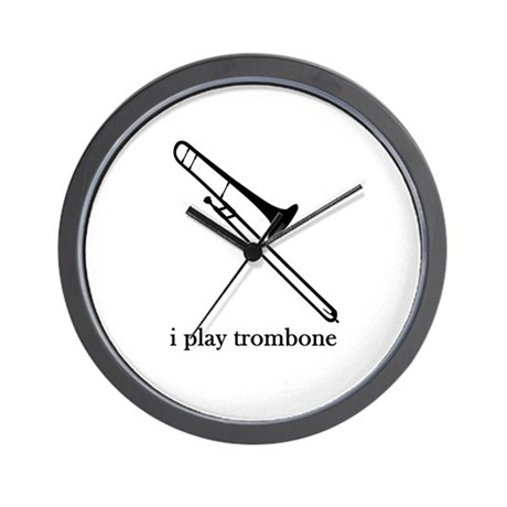 I Play Trombone Wall Clock