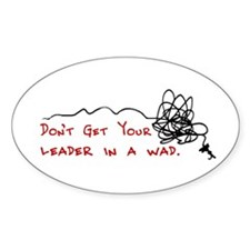 Fly Fishing Leader Oval Decal