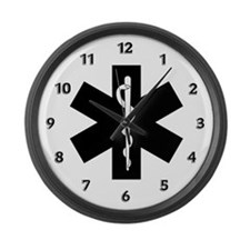 EMS Star of Life Large Wall Clock
