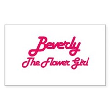 Beverly - Flower Girl Rectangle Decal