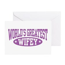 World's Greatest Wifey Greeting Cards (Pk of 10)