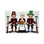 Masonic Clan at Thanksgiving Rectangle Magnet