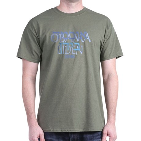 Hebrew Obama Biden Dark T-Shirt