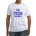 Vote Obama Hebrew Fitted T-Shirt