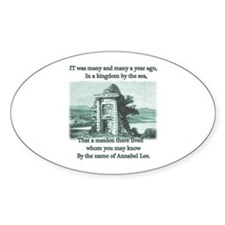 Annabel Lee Oval Sticker (10 pk)