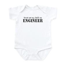 Trust Me My Dad's An Engineer Infant Bodysuit