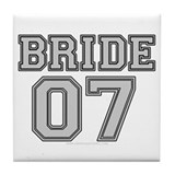 Bride 07 Varsity Tile Coaster