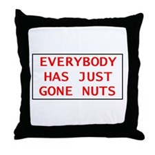 Gone Nuts Throw Pillow