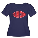Team Corn Women's Plus Size Scoop Neck Dark T-Shir