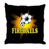 Fireballs Soccer Team Throw Pillow