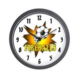 Fireballs Soccer Team Wall Clock