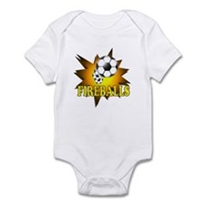 Fireballs Soccer Team Infant Bodysuit