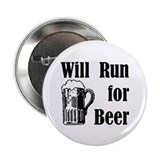"Will Run for Beer 2.25"" Button (100 pack)"
