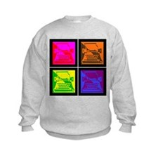 Vivid Pop Art Typewriter Sweatshirt