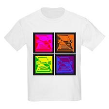 Vivid Pop Art Typewriter T-Shirt
