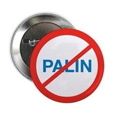"NO SARAH PALIN 2.25"" Button (100 pack)"
