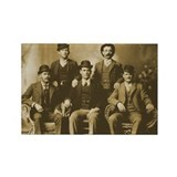 Wild Bunch Old Wild West Rectangle Magnet
