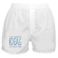 Writing Ideas - Blue Pencil Boxer Shorts