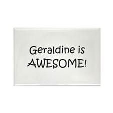 Funny Name geraldine Rectangle Magnet