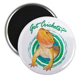 "Bearded Dragon Got Crickets 4 2.25"" Magnet (1"