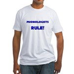 Phonologists Rule! Fitted T-Shirt