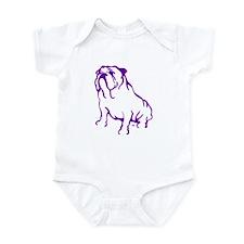 Bulldog Logo Purple Infant Bodysuit
